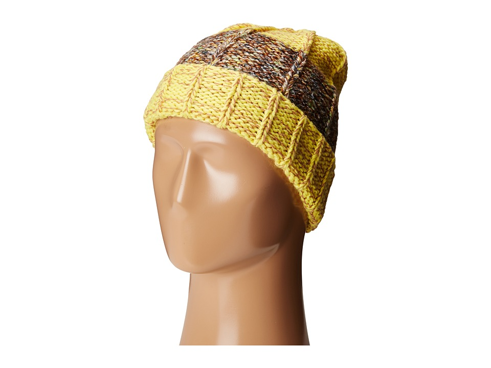 San Diego Hat Company - KNH3412 Color Blocked Cuff Beanie (Yellow) Beanies