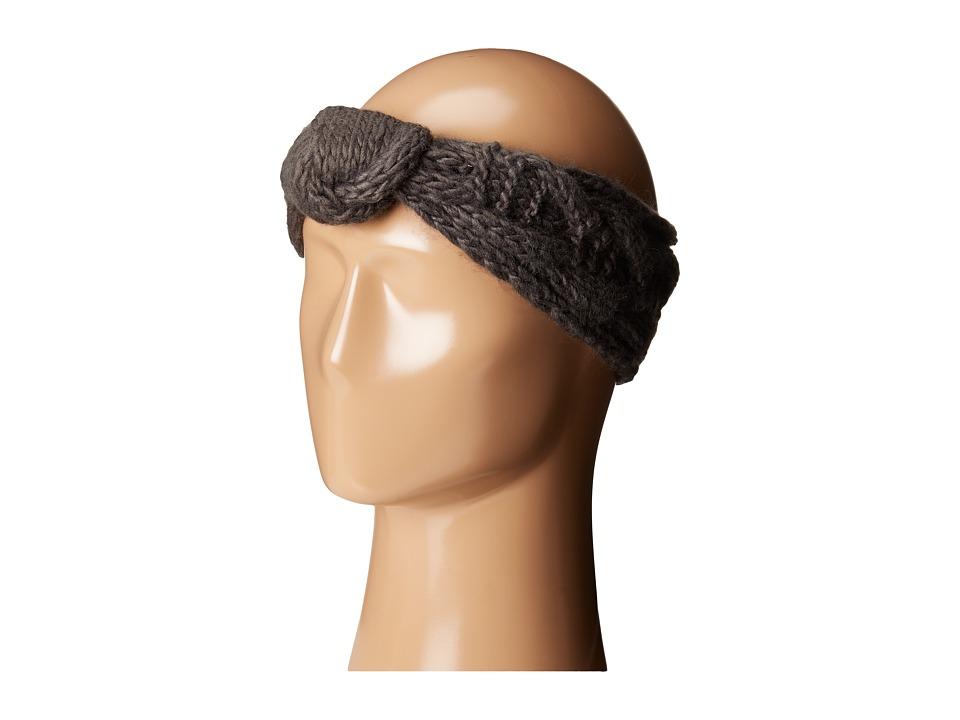 San Diego Hat Company - KNH3443 Cable Knit Knot Headband (Grey) Headband