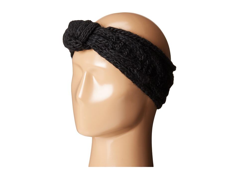 San Diego Hat Company - KNH3443 Cable Knit Knot Headband (Black/Ivory) Headband