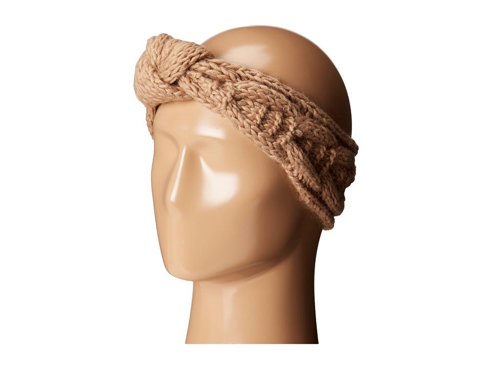 San Diego Hat Company - KNH3443 Cable Knit Knot Headband (Camel) Headband
