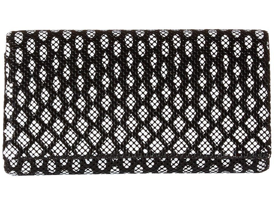 Jessica McClintock Cassie Clutch (Black/White) Clutch Handbags