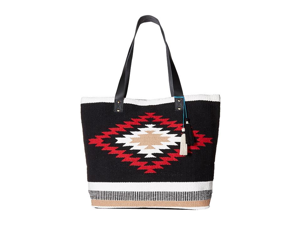 San Diego Hat Company - BSB1693 Southwestern Tote Bag (Black/White) Tote Handbags