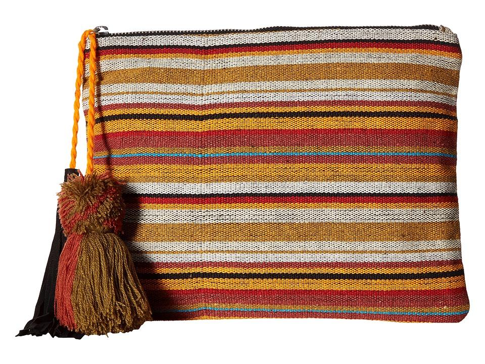 San Diego Hat Company - BSB1696 Woven Pattern Canvas Clutch (Stripe) Clutch Handbags