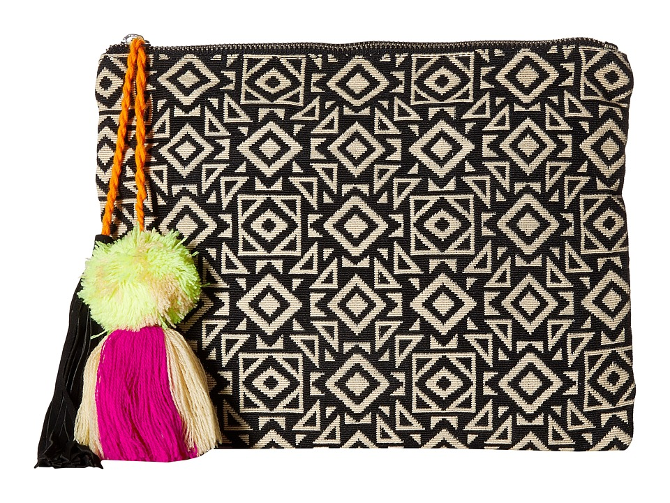 San Diego Hat Company - BSB1696 Woven Pattern Canvas Clutch (Geo) Clutch Handbags
