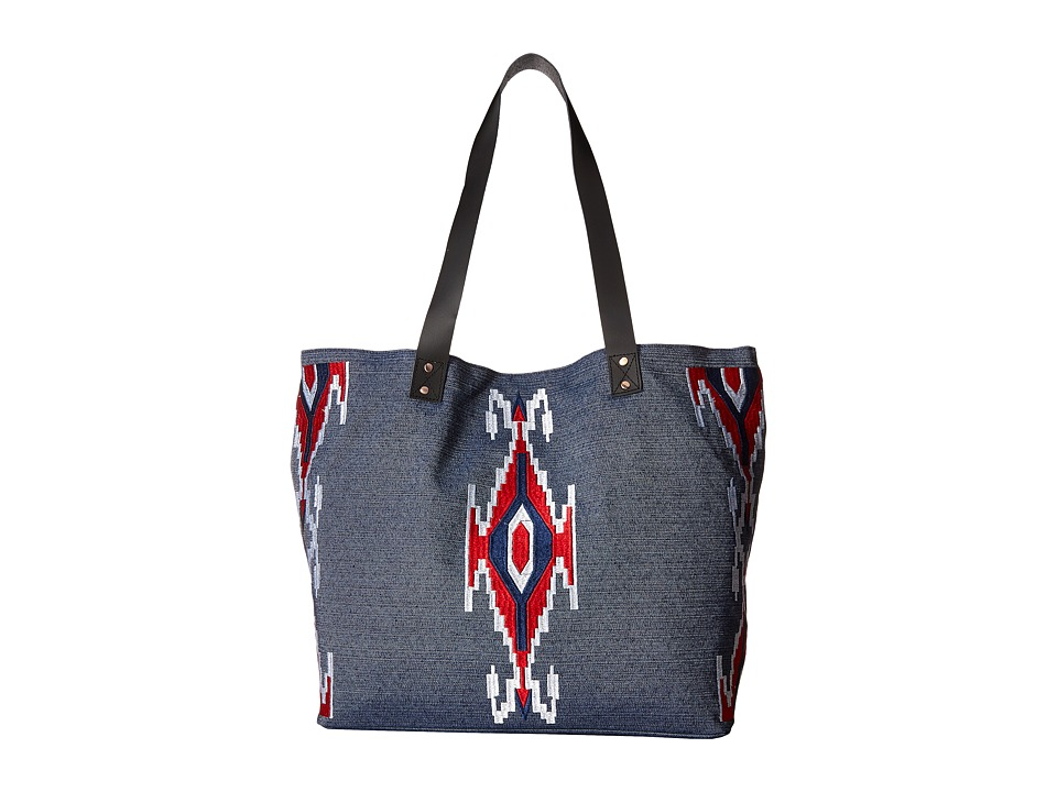 San Diego Hat Company - BSB1691 Cambray Tote Southwestern Bag (Denim) Tote Handbags