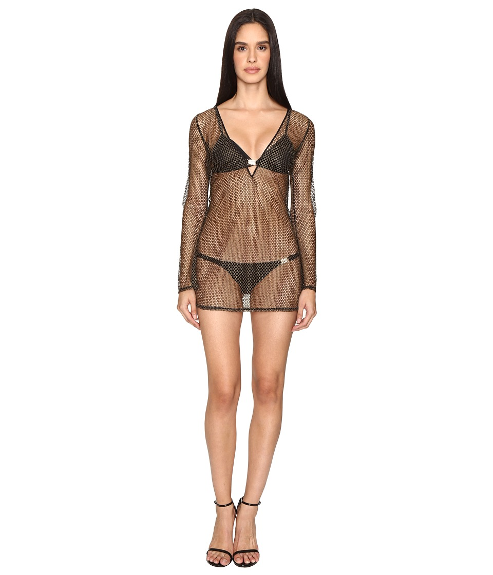 LAgent by Agent Provocateur Kristen Short Tunic Gold Swimwear