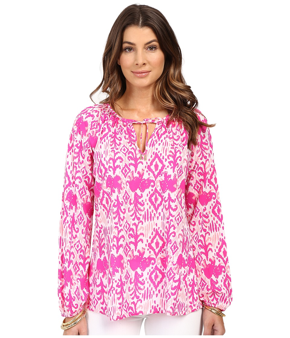 Lilly Pulitzer - Willa Top (Magenta Tons of Fun) Women's Clothing