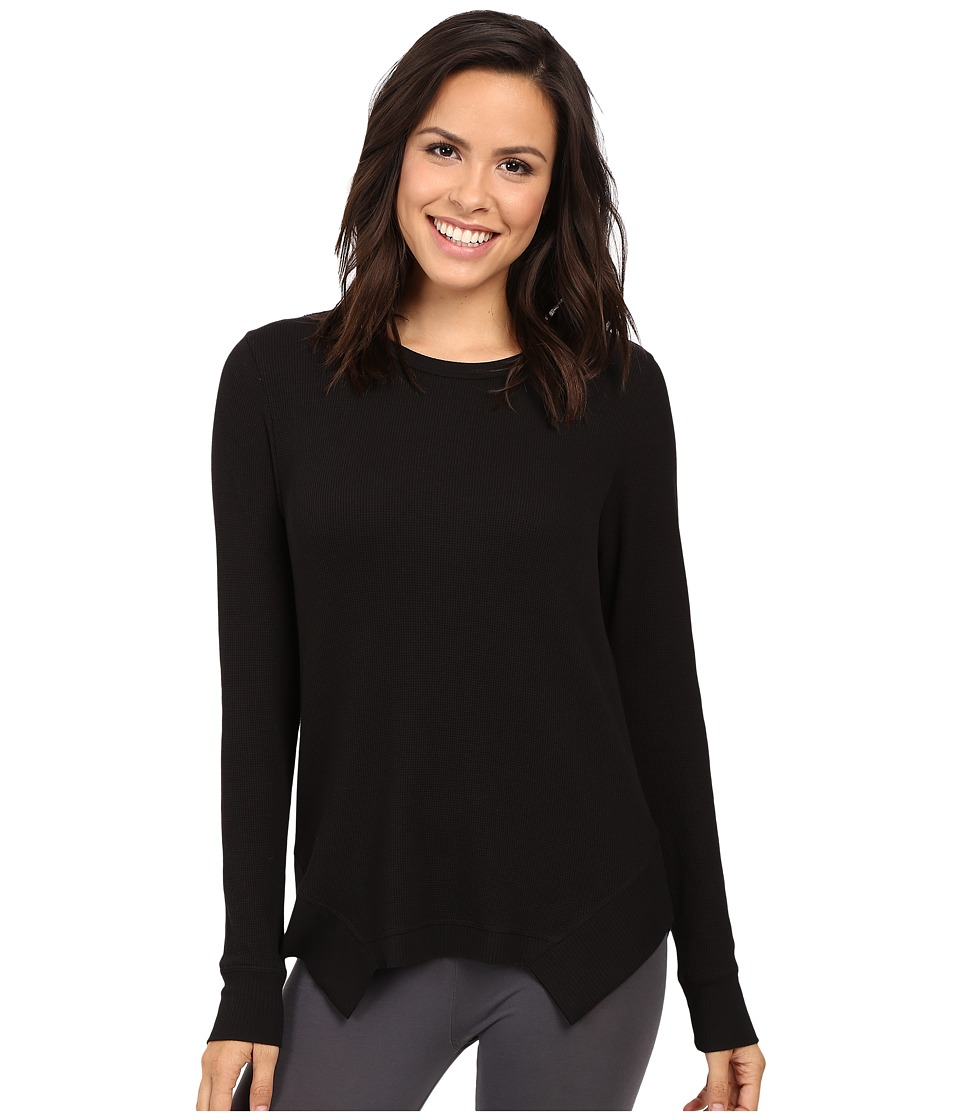 Yummie by Heather Thomson - Waffle Knit Long Sleeve Top (Black) Women's Clothing