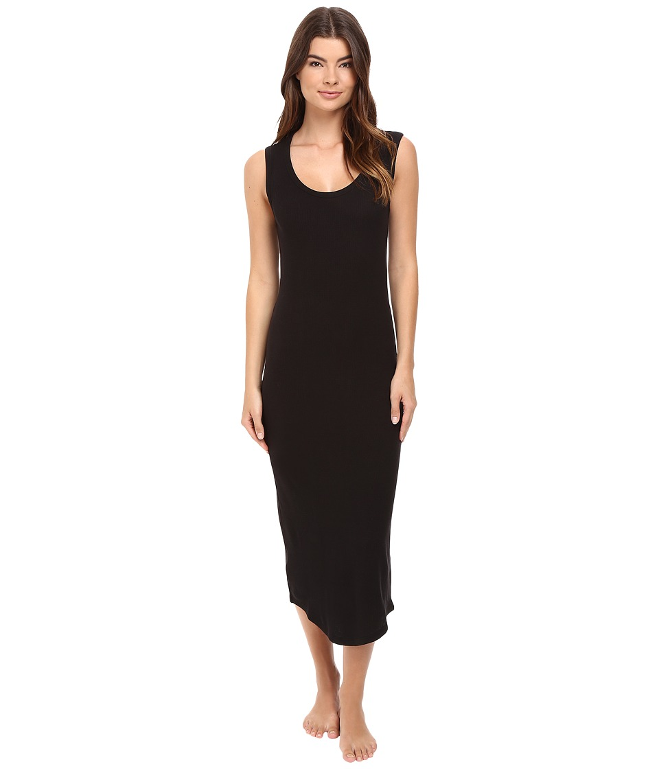 Yummie by Heather Thomson - Waffle Knit Tank Gown (Black) Women's Dress