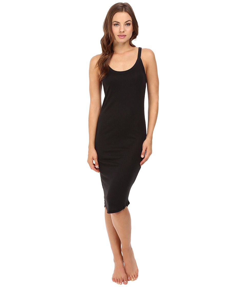 Yummie by Heather Thomson - Baby Rib Scoop Neck Tank Dress (Black) Women's Dress