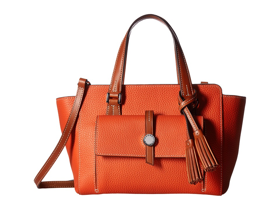 Dooney & Bourke - Cambridge Small Shopper (Persimmon/Tan Trim) Handbags