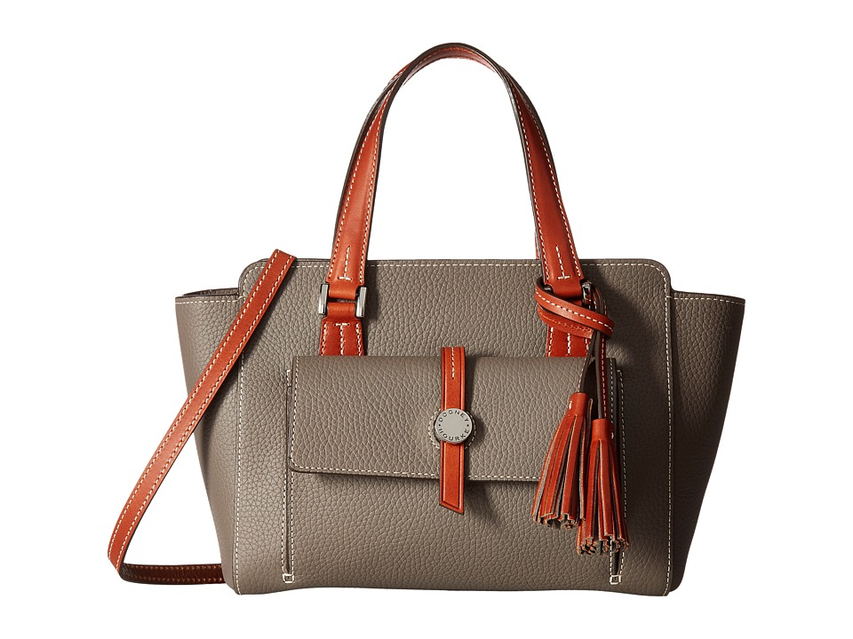 Dooney & Bourke - Cambridge Small Shopper (Taupe/Tan Trim) Handbags