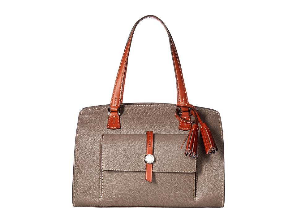 Dooney & Bourke - Cambridge Shoulder Bag (Taupe/Tan Trim) Shoulder Handbags