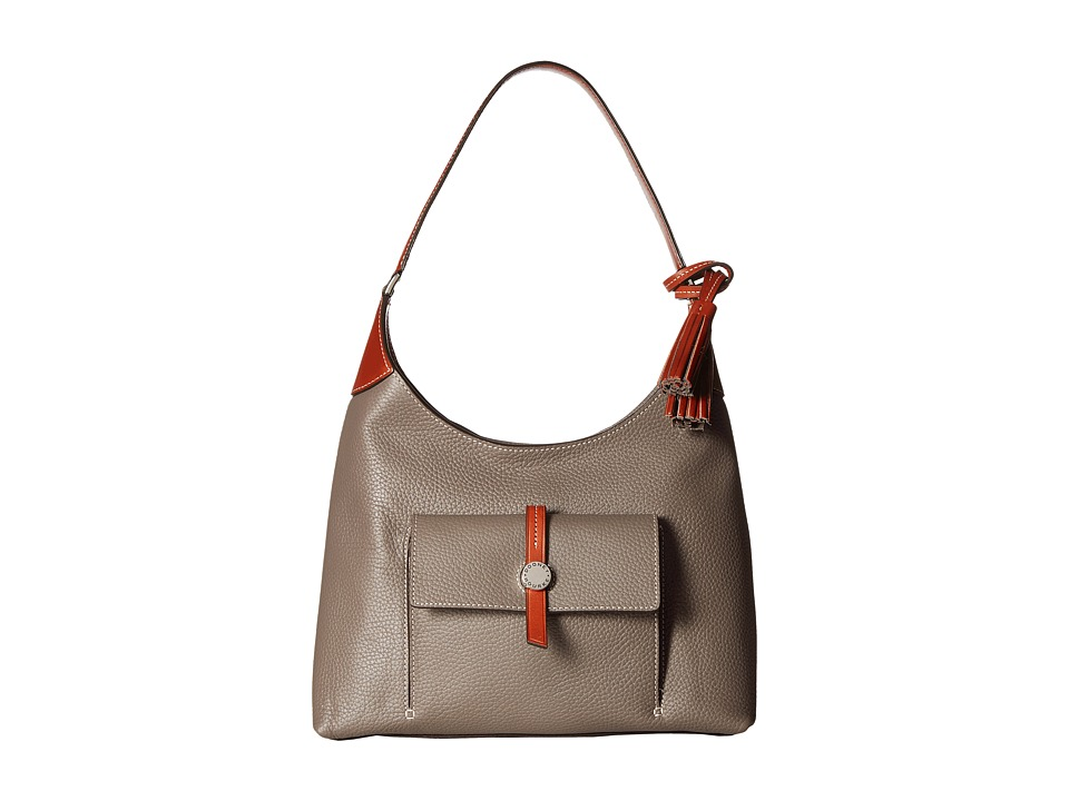 Dooney & Bourke - Cambridge Hobo (Taupe/Tan Trim) Hobo Handbags