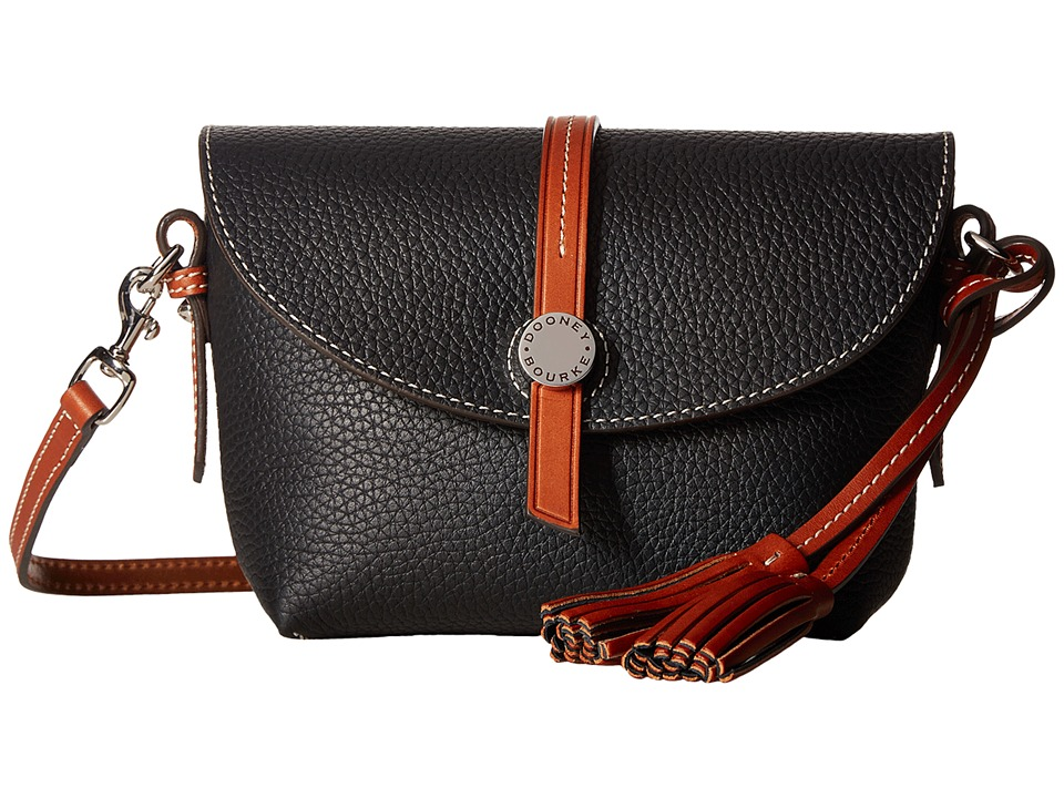Dooney & Bourke - Cambridge Crossbody Saddle Bag (Black/Tan Trim) Cross Body Handbags