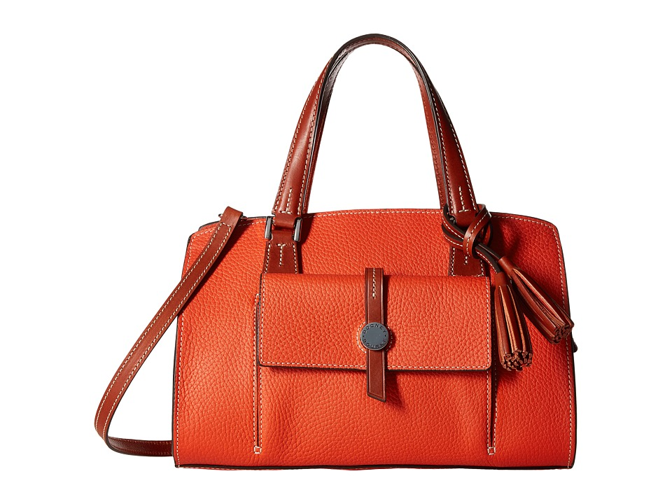 Dooney & Bourke - Cambridge Satchel (Persimmon/Tan Trim) Satchel Handbags