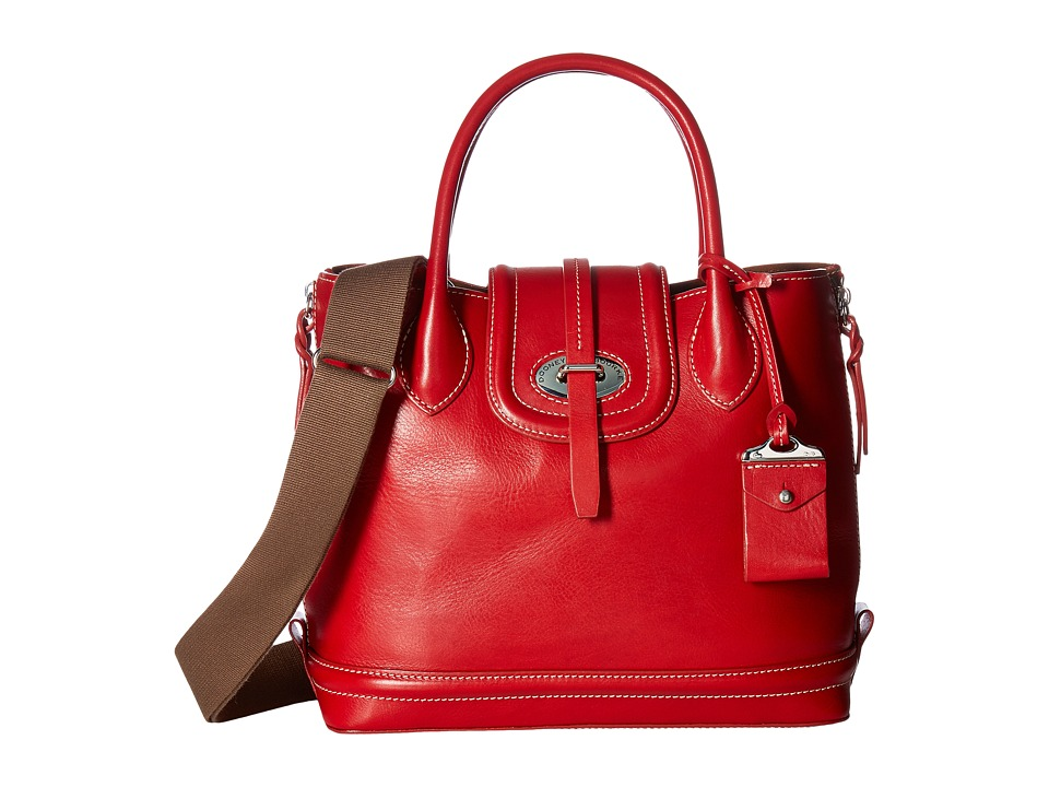 Dooney & Bourke - Florentine Side Zip Satchel (Red/Self Trim) Satchel Handbags