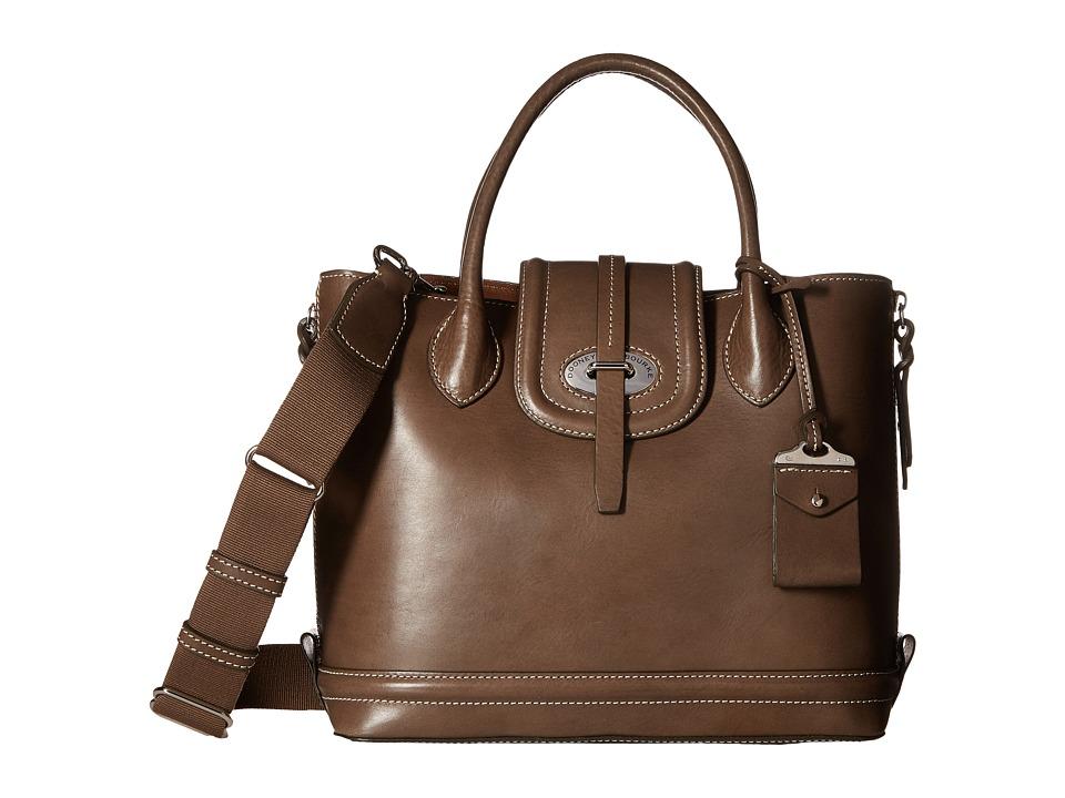 Dooney & Bourke - Florentine Side Zip Satchel (Elephant/Self Trim) Satchel Handbags