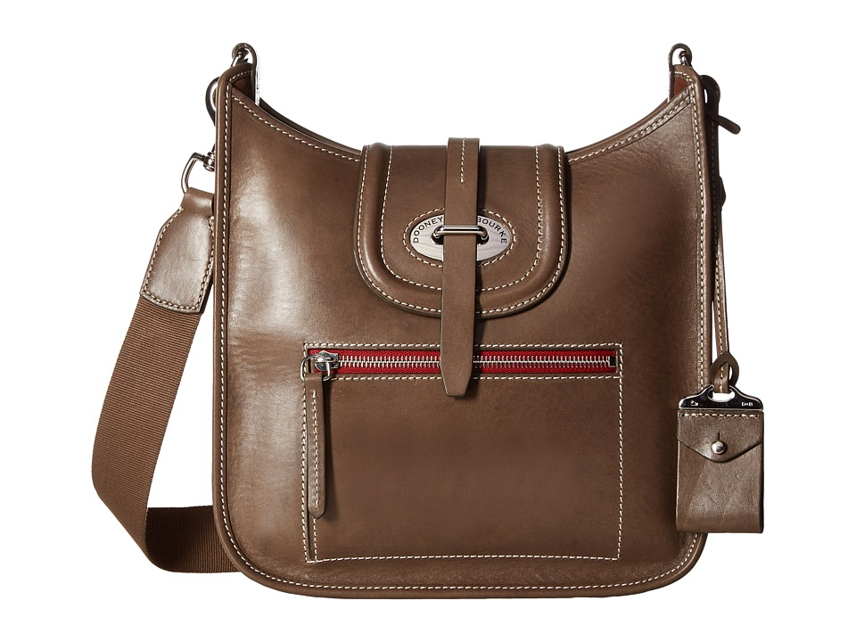 Dooney & Bourke - Florentine Small Front Zip Crossbody (Elephant/Self Trim) Cross Body Handbags