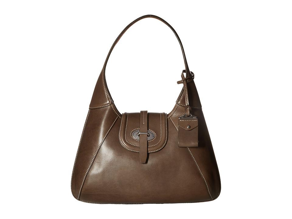 Dooney & Bourke - Florentine Front Stitch Hobo (Elephant/Self Trim) Hobo Handbags