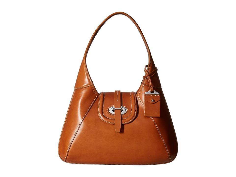 Dooney & Bourke - Florentine Front Stitch Hobo (Natural/Self Trim) Hobo Handbags