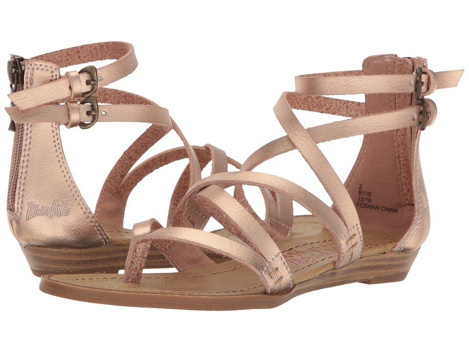 Blowfish Kids - Bungalow (Little Kid/Big Kid) (Rose Gold Dyecut PU) Girl's Shoes