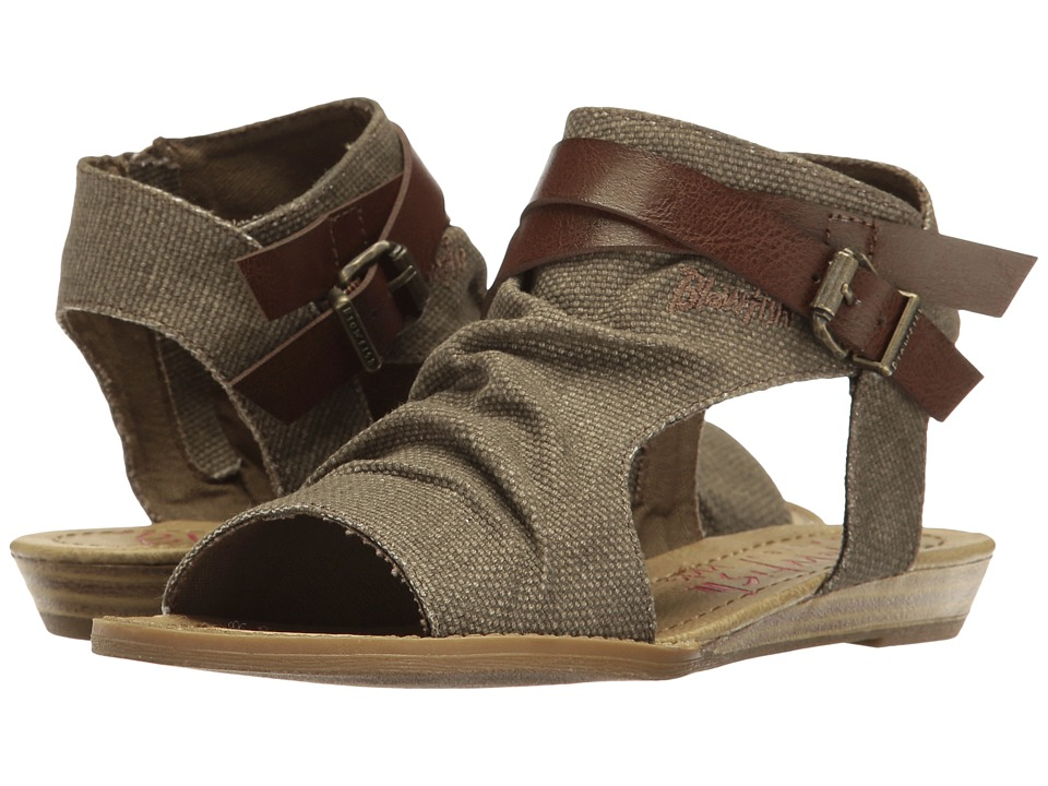 Blowfish Kids - Balla-K (Little Kids/Big Kids) (Brown Rancher Canvas/Whiskey Dyecut) Girl's Shoes