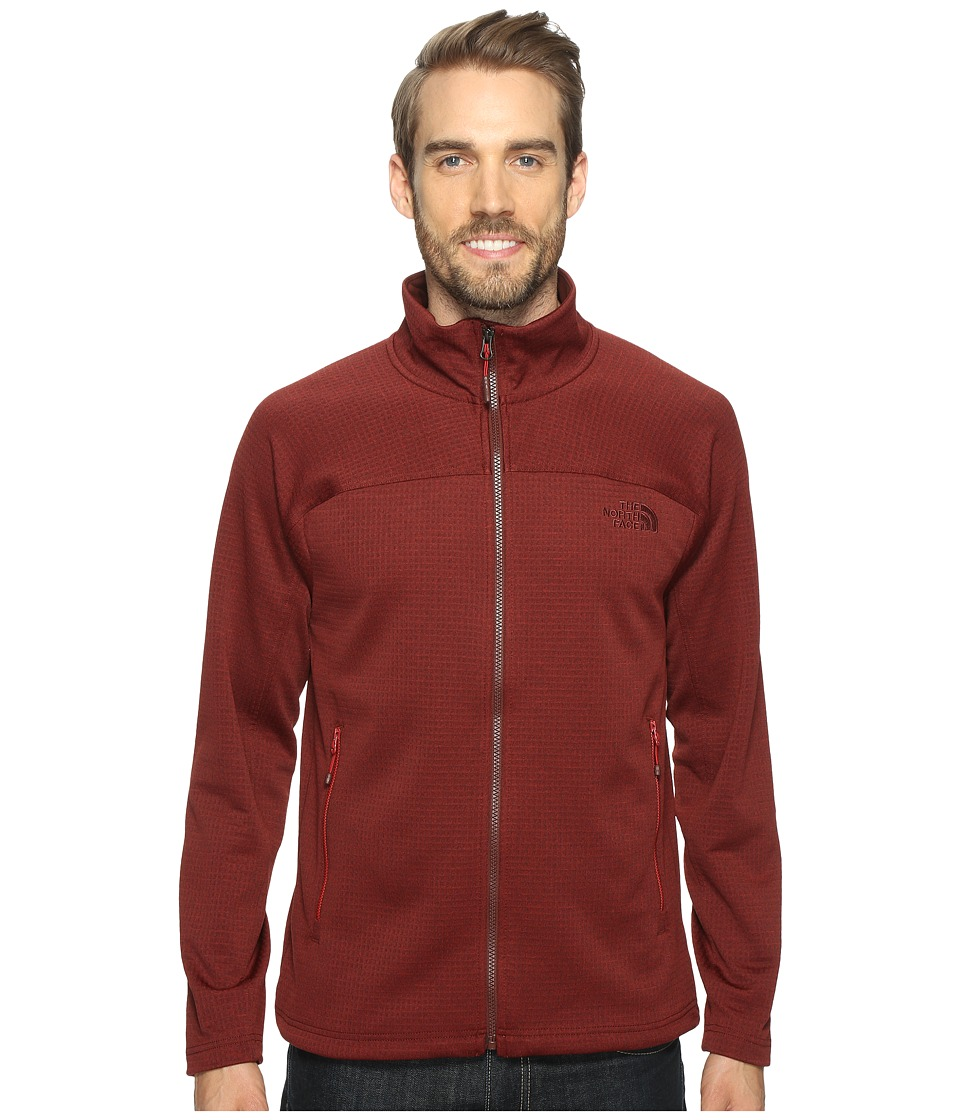 The North Face - Needit Full Zip (Sequoia Red Heather/Sequoia Red Heather (Prior Season)) Men's Coat