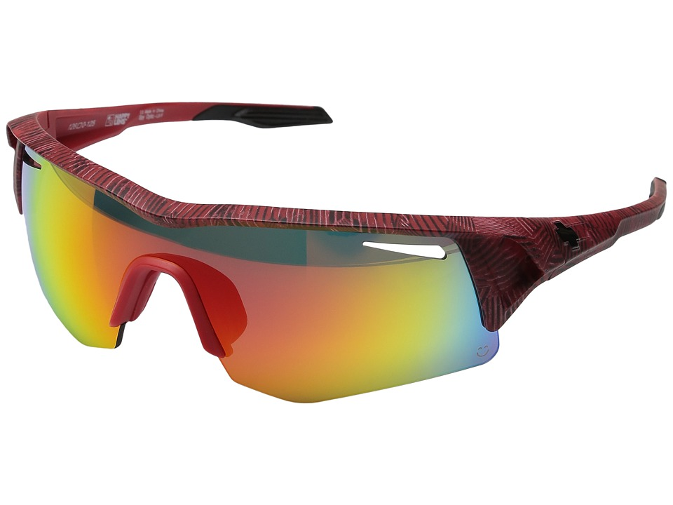 Spy Optic - Screw (Infinite Red/Happy Gray Green w/ Red Spectra + Happy Rose + Clea) Fashion Sunglasses