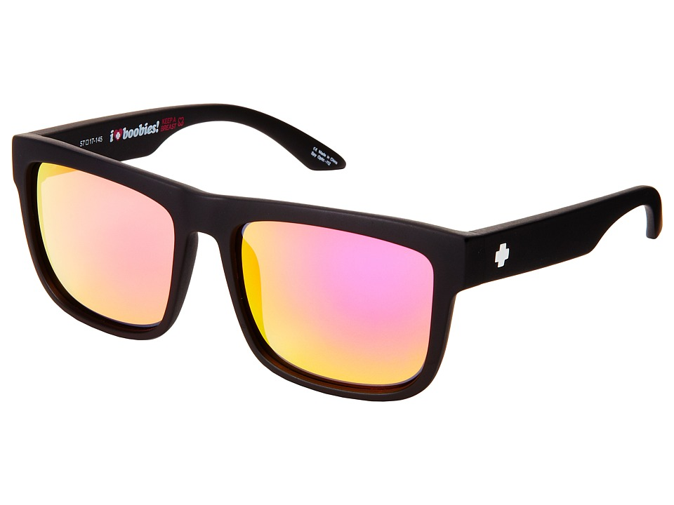 Spy Optic - Discord (Matte Black Spy + Kab/Gray w/ Pink Spectra) Sport Sunglasses