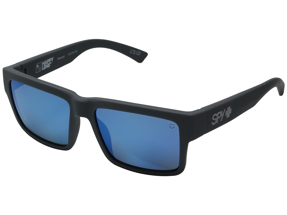 Spy Optic - Montana (Soft Matte Gray/Happy Gray Green Polar w/ Dark Blue Spectra) Plastic Frame Sport Sunglasses