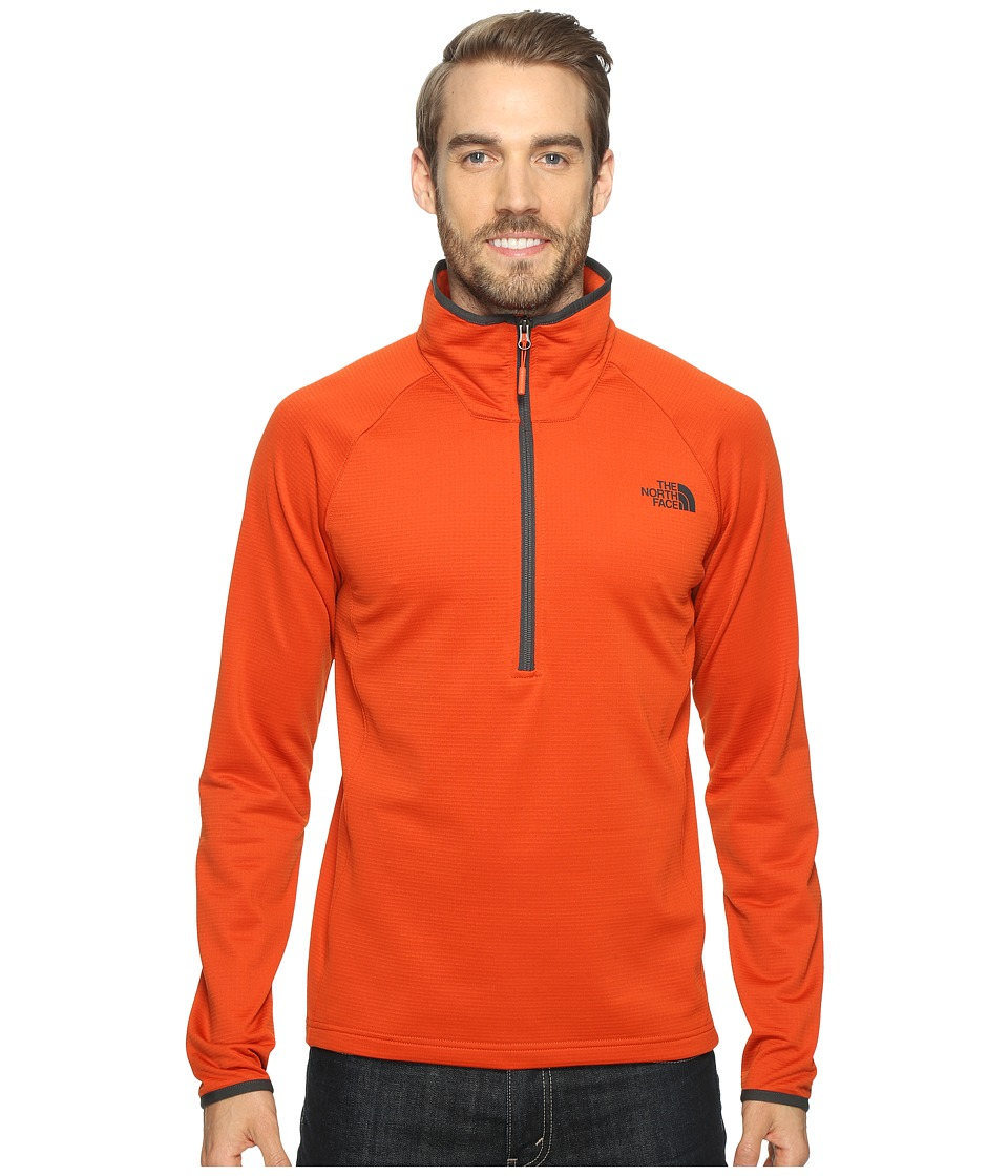 The North Face - Borod 1/4 Zip (Tibetan Orange (Prior Season)) Men's Clothing