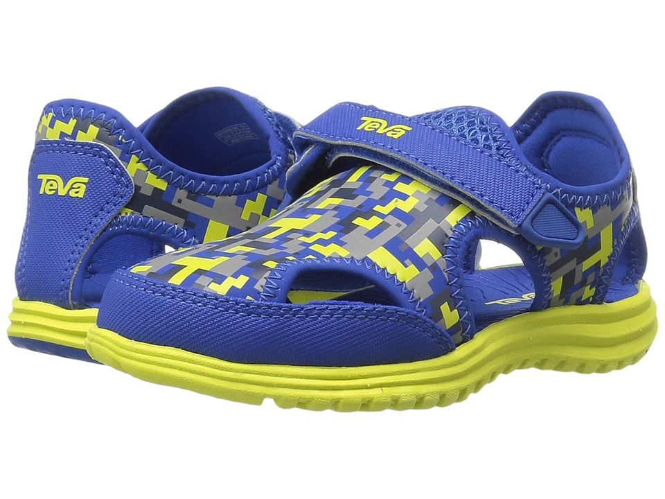 Teva Kids - Tidepool Sport (Toddler) (Blue/Lime Digital Camo) Boys Shoes