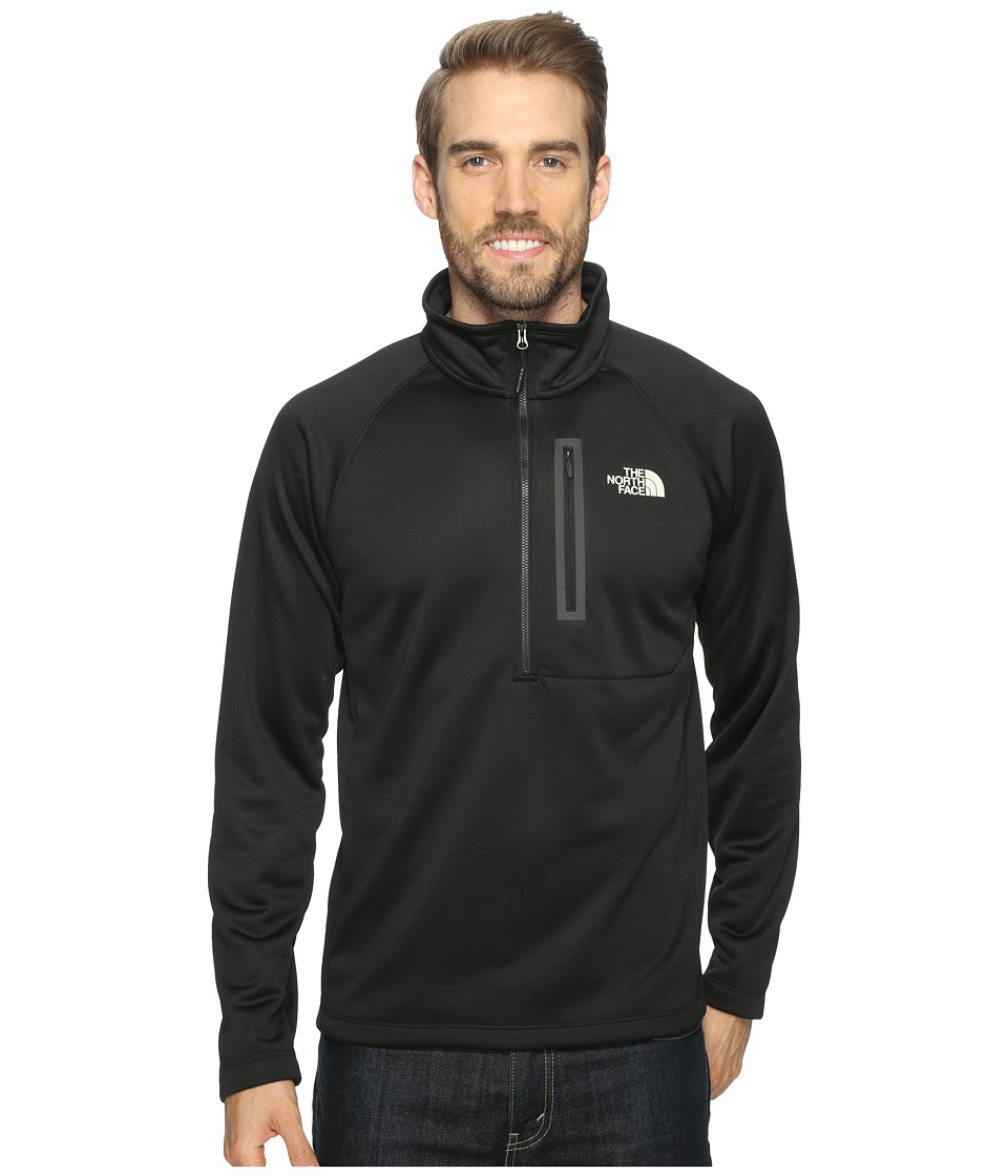 The North Face - Canyonlands 1/2 Zip (TNF Black/Rainy Day Ivory (Prior Season)) Men's Long Sleeve Pullover
