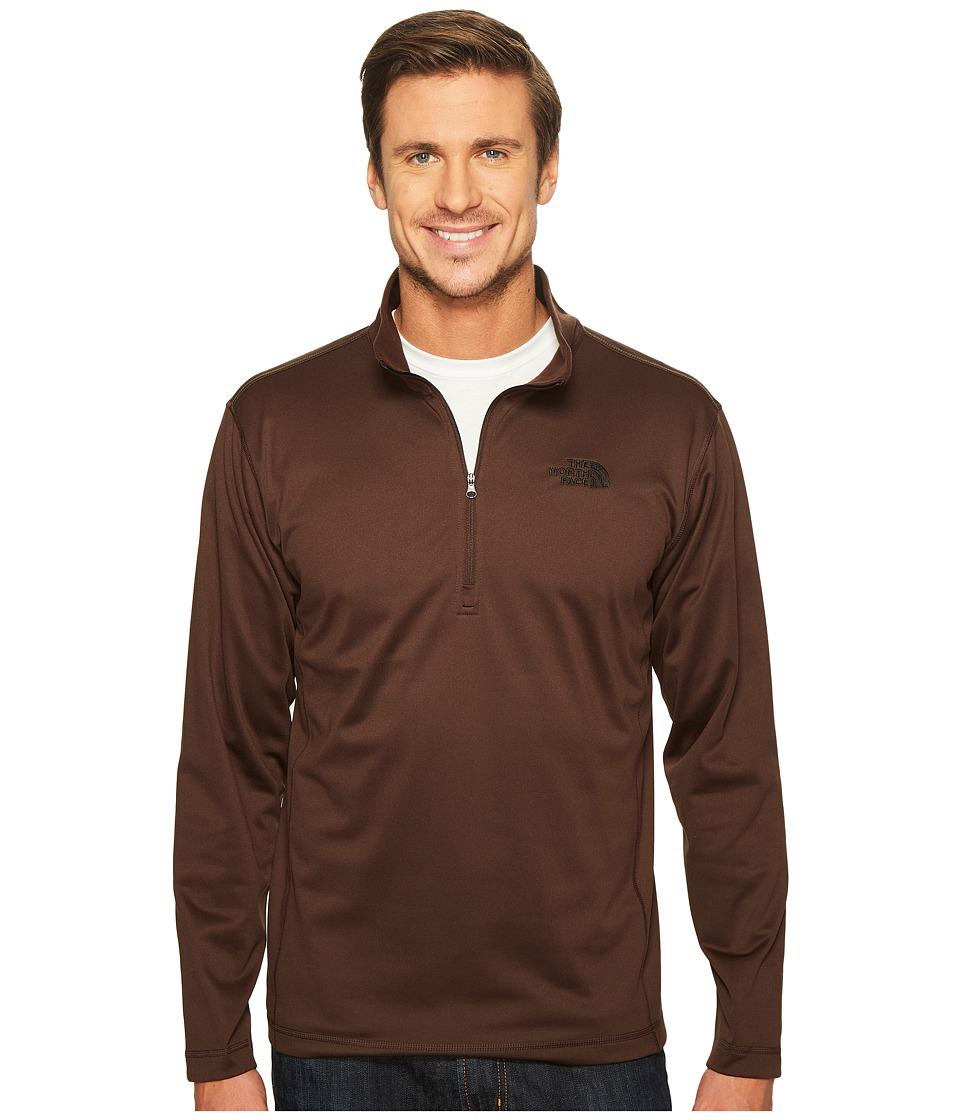 The North Face - Tech Glacier 1/4 Zip (Coffee Bean Brown (Prior Season)) Men's Coat