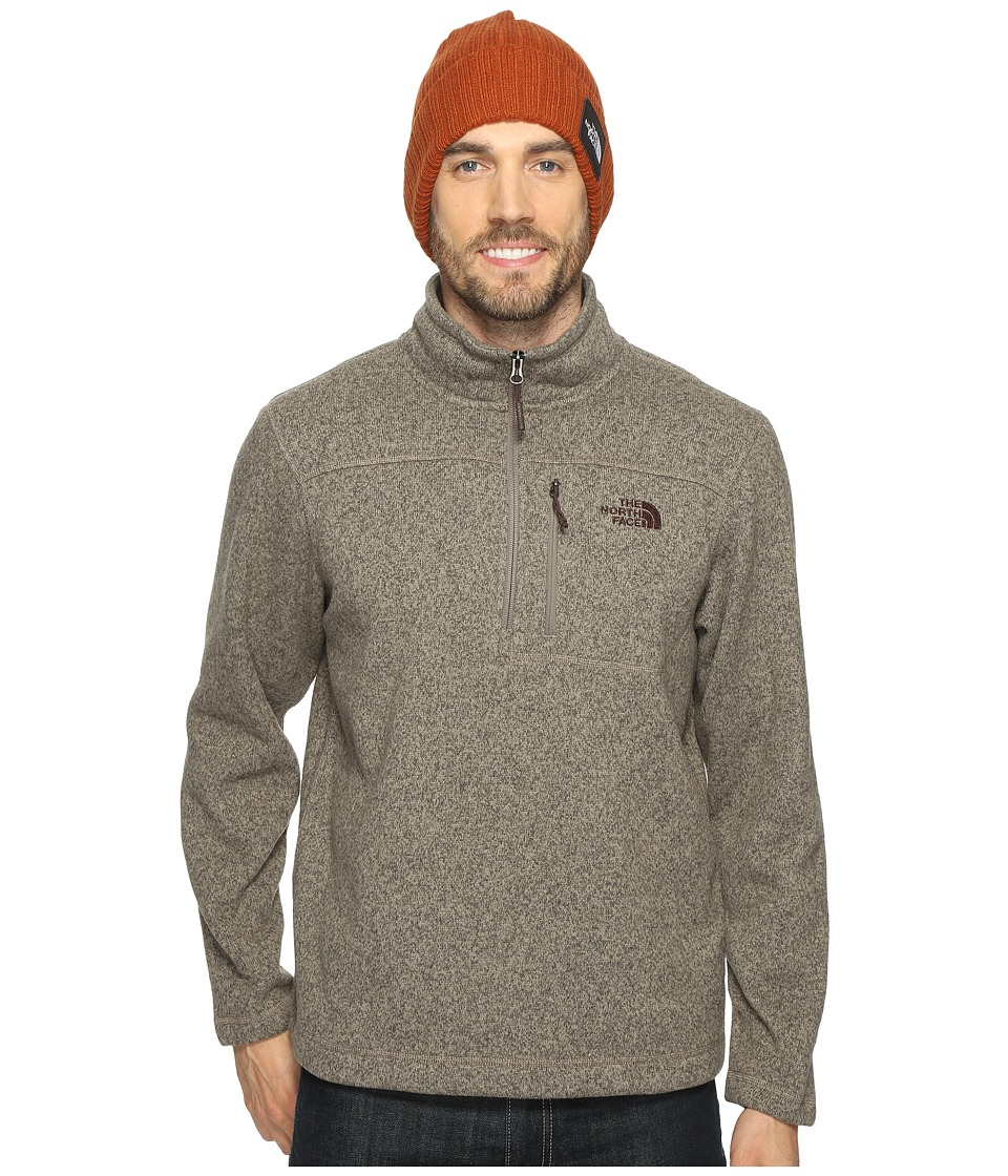 The North Face - Gordon Lyons 1/4 Zip (Falcon Brown Heather (Prior Season)) Men's Long Sleeve Pullover