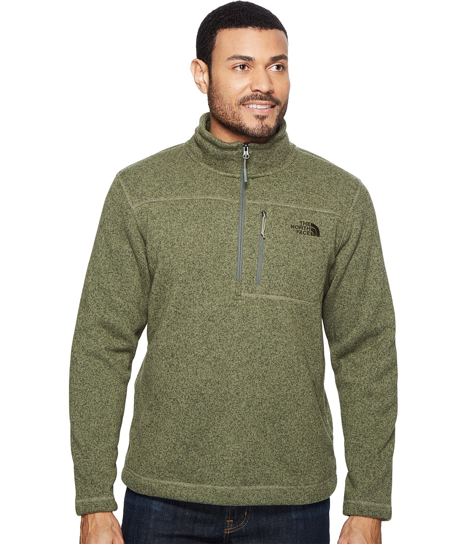 The North Face - Gordon Lyons 1/4 Zip (Deep Lichen Green Heather (Prior Season)) Men's Long Sleeve Pullover