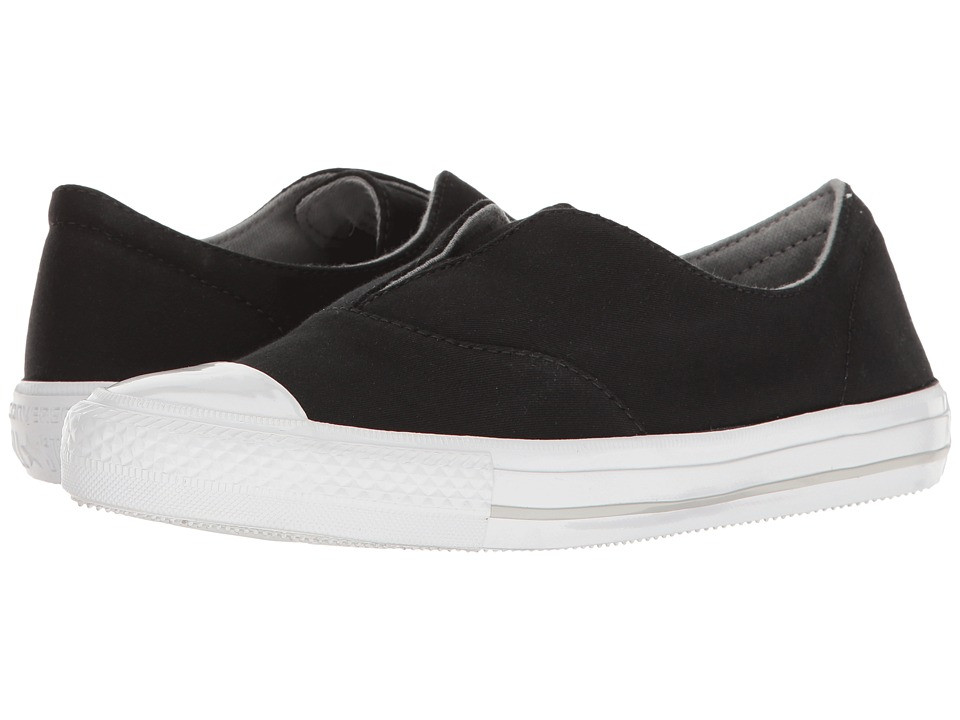 Converse - Chuck Taylor(r) All Star(r) Gemma Craft Twill Slip-On (Black/White/Mouse) Women's Shoes