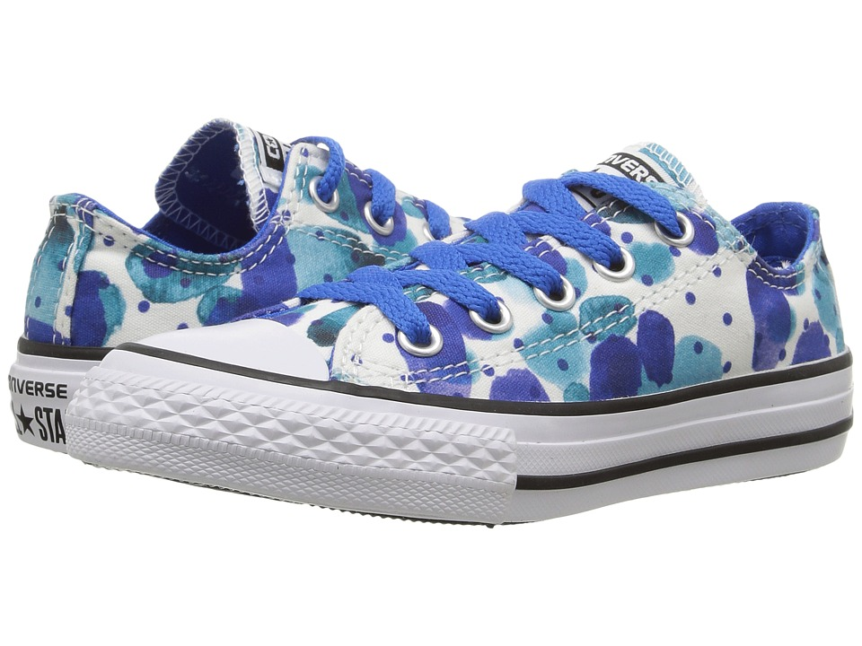Converse Kids - Chuck Taylor All Star Ox (Little Kid/Big Kid) (White/Soar/White) Girl's Shoes
