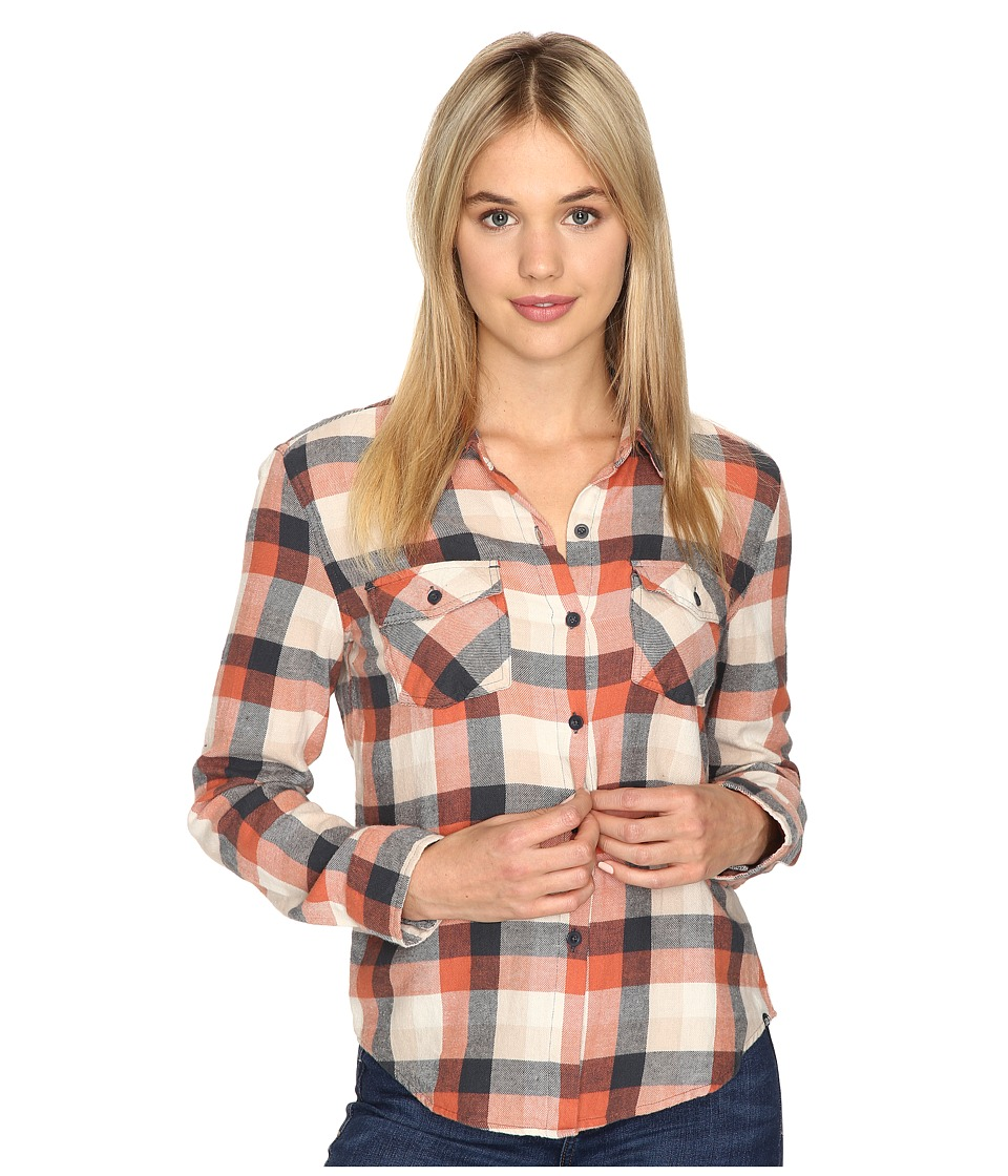 Volcom - Lodge Life Long Sleeve Top (Ginger) Women's Long Sleeve Button Up