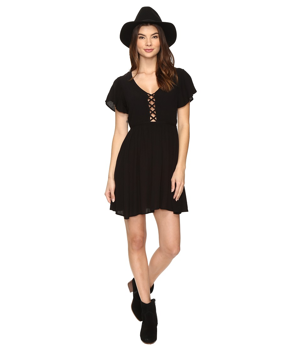 Volcom - Goldn Lantern Dress (Black) Women's Dress