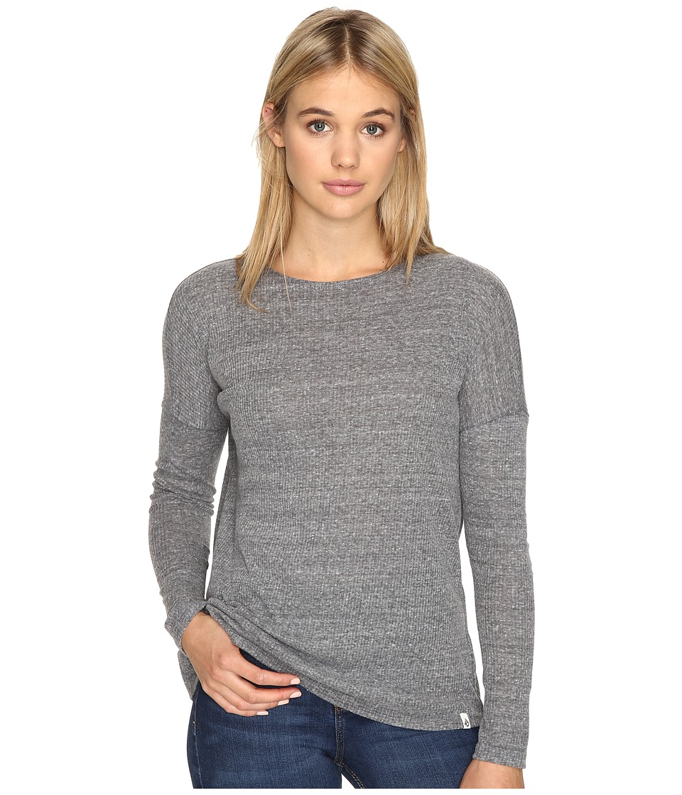 Volcom - Lived In Go Pullover Crew (Heather Grey) Women's Long Sleeve Pullover