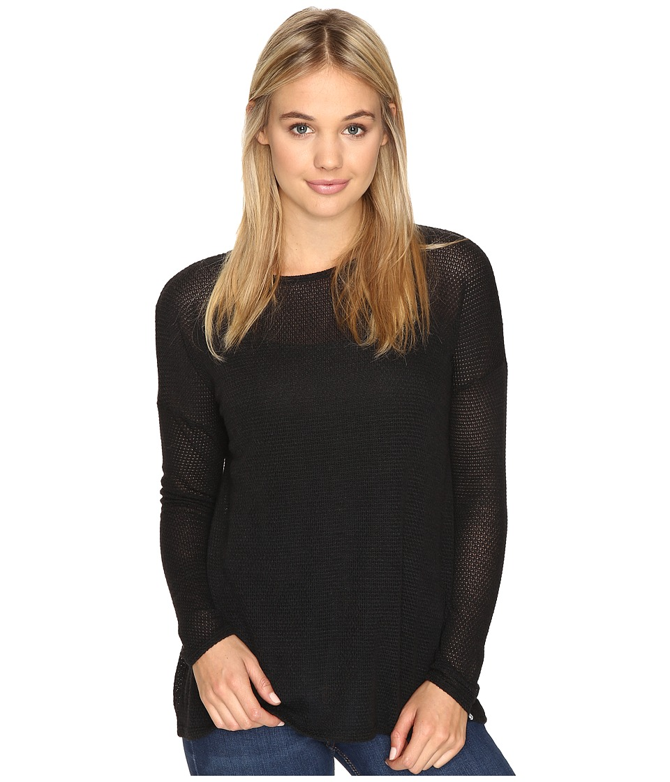 Volcom - Lived In Go Pullover Crew (Black Combo) Women's Long Sleeve Pullover