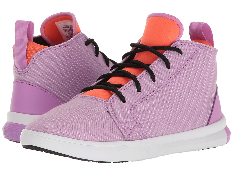 Converse Kids - All Star Easy Ride Mid (Little Kid/Big Kid) (Fuchsia Glow/Wild Mango/White) Girl's Shoes