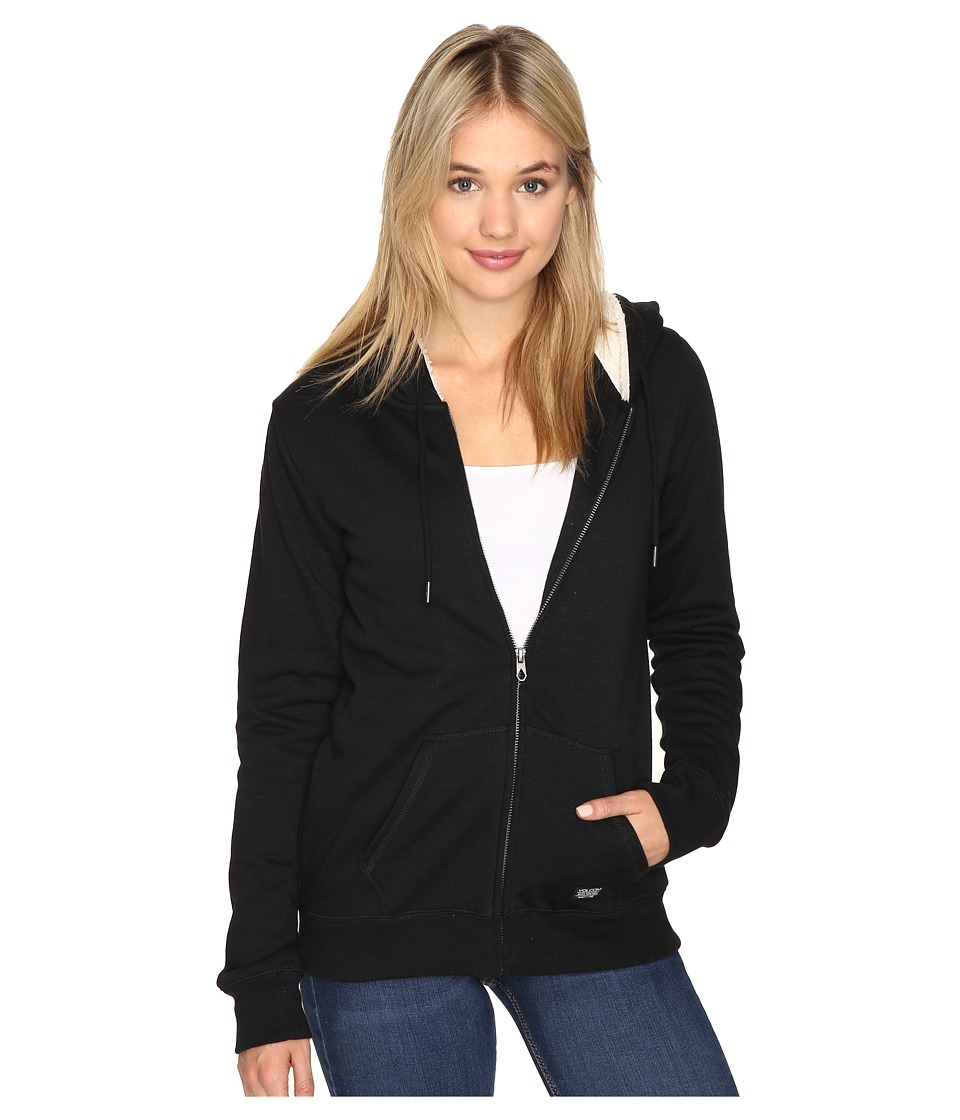 Volcom - Lived In Sherpa Zip (Black) Women's Sweatshirt