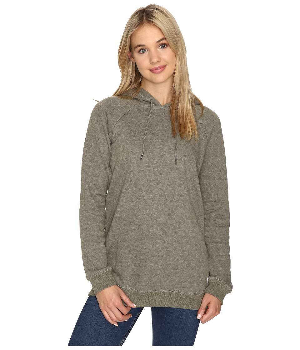 Volcom - Lived In Fleece Pullover Hoodie (Military) Women's Sweatshirt
