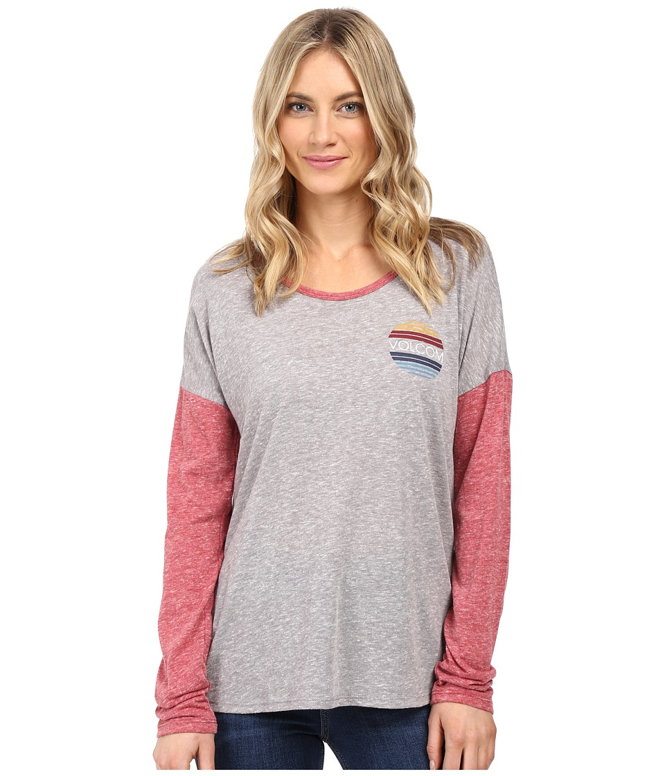 Volcom - Daydreamer Long Sleeve Tee (Heather Grey) Women's T Shirt