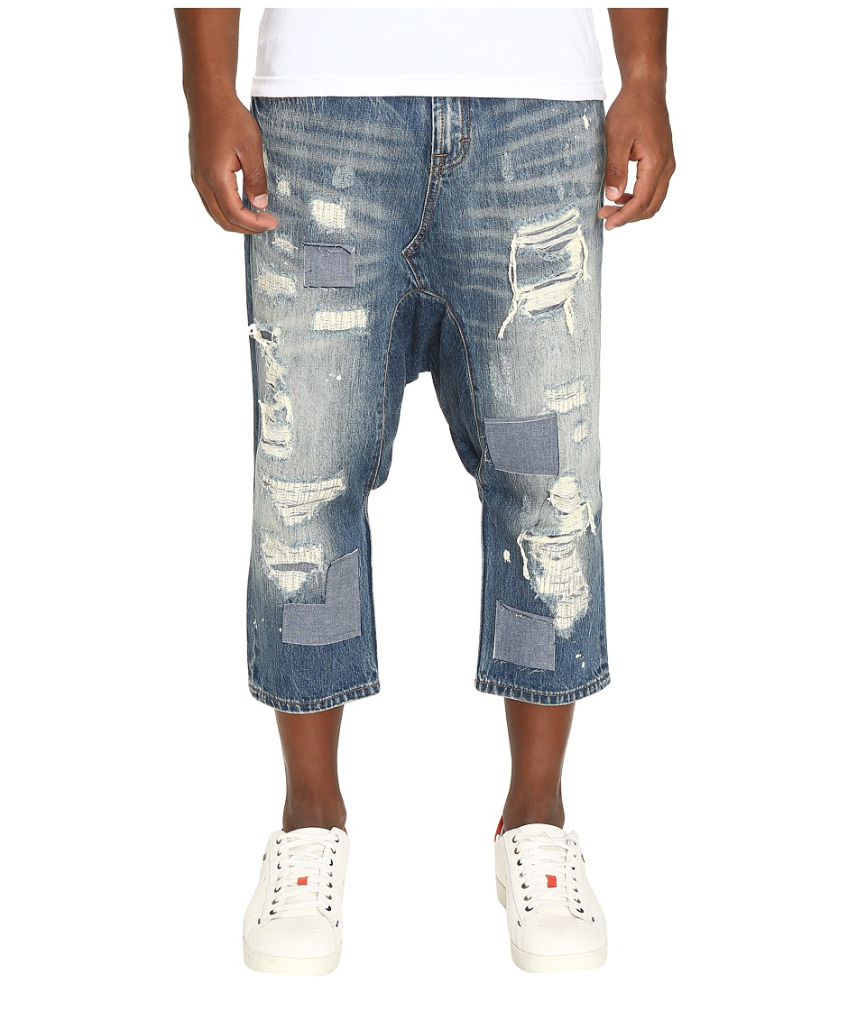 Mostly Heard Rarely Seen - Distressed Enzo Drop-Crotch Jeans (Light Indigo) Men's Jeans