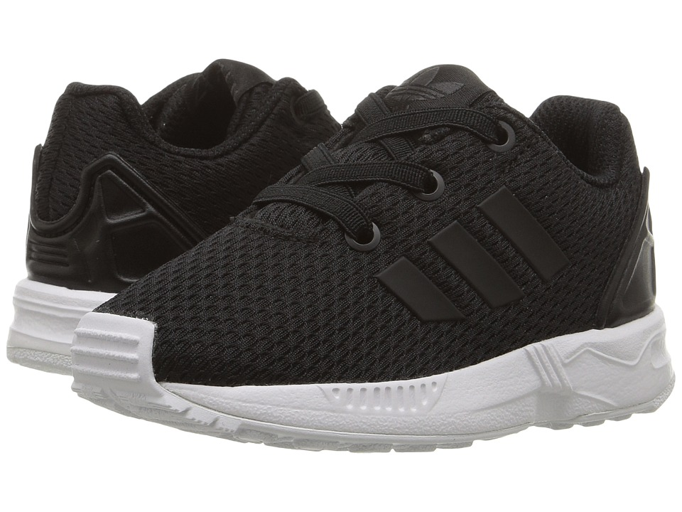 adidas Originals Kids ZX Flux EL (Toddler) (Core Black/Core Black/Footwear White) Boys Shoes