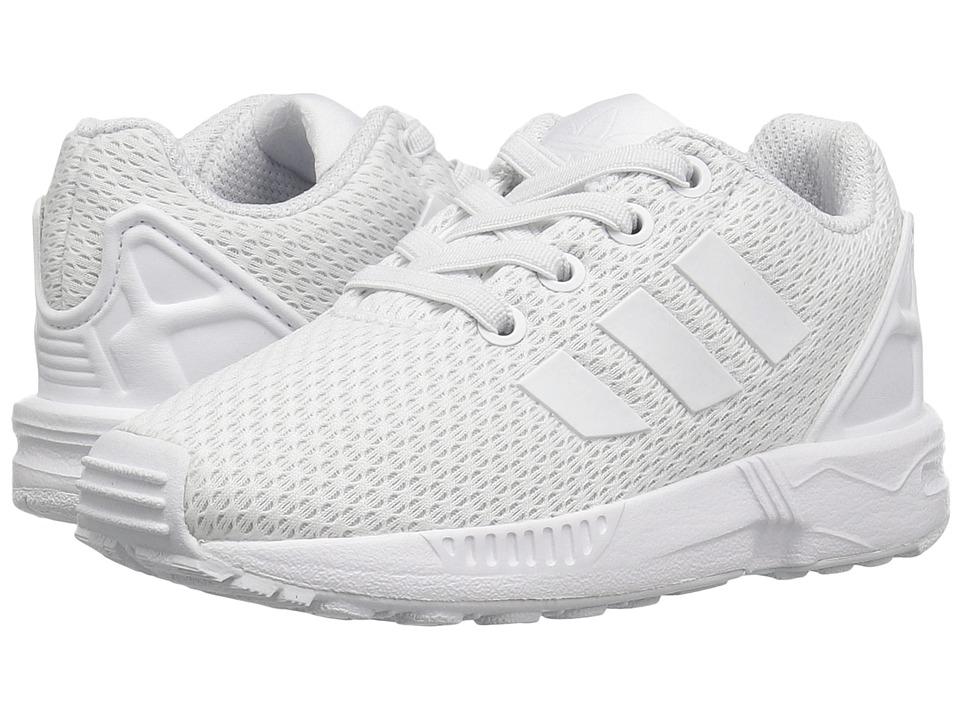 adidas Originals Kids - ZX Flux EL (Toddler) (Footwear White/Footwear White/Footwear White) Kids Shoes